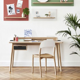 Honoré Desk - Oak & Anthracite Grey Hartô