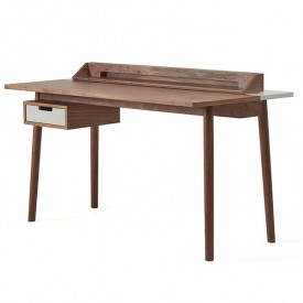 Honoré Desk - Walnut & Light Grey Grey Hartô