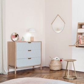 Chest of drawers Marius - Petrol Blue Nature Hartô