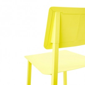 Rosalie Metal Chair - Lemon Yellow Hartô