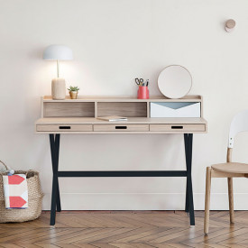 Hyppolite Desk - Oak & Anthracite Grey Hartô