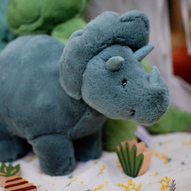 Fossilly Triceratops (17 cm) Green Jellycat
