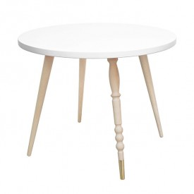 Round table My Lovely Ballerine - Beech / Brass - White White Jungle by Jungle