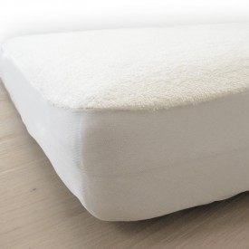 Mattress Cover 90x190 - Organic Cotton White Kadolis