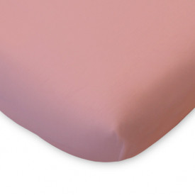 Organic Cotton Fitted Sheet - 70x140 - Light Pink Pink Kadolis