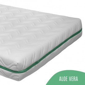 Kid's Mattress 90x190 Aloe Vera - 17 cm White Kadolis