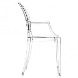 Louis Ghost Chair - Crystal White Kartell