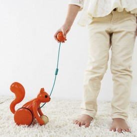 Pull Toy - Squirrel Orange Kid O