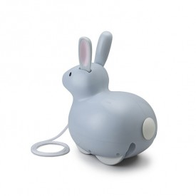 Pull Toy - Jumping Rabbit Grey Kid O