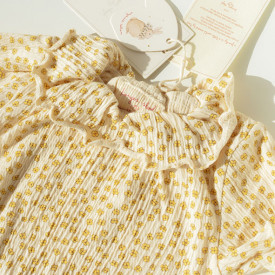 Chleo Short Sleeves Body - Buttercup Yellow Yellow Konges Sløjd