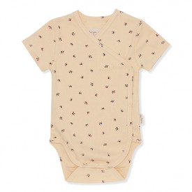 Newborn Body Short Sleeves - Bloom Red/Blue Beige Konges Sløjd