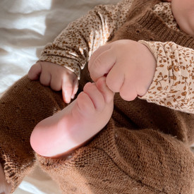 Milly Onesie - Almond Brown Konges Sløjd