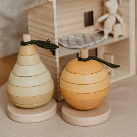 Stacking Toy - Pear  Yellow Konges Sløjd