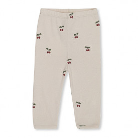Newborn Pants - Cherry/Blush White Konges Sløjd