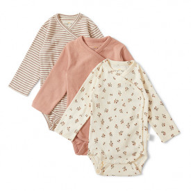 3-Pack Newborn Bodies - Mix Blush Multicolour Konges Sløjd