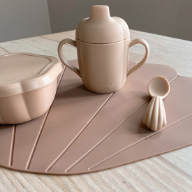 Silicone Placemat Clam - Blush Pink Konges Sløjd