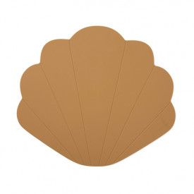 Silicone Placemat Clam - Terra Cotta Yellow Konges Sløjd
