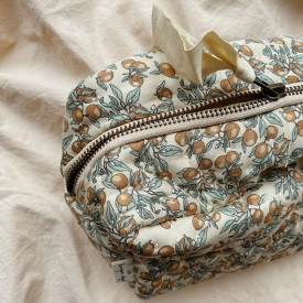 Quilted Toiletry Bag - Orangery Beige Multicolour Konges Sløjd
