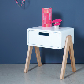 Night Table Little Robot - Wood Legs - Color to choose Multicolour Laurette
