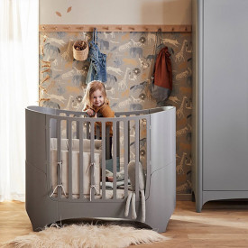 Classic Baby Cot 0-3 years - Grey Grey Leander