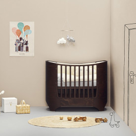 Classic Baby Cot 0-3 years - Walnut Nature Leander