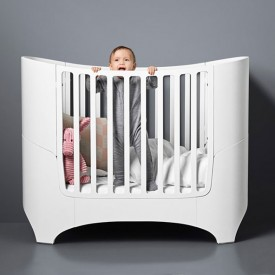 Convertible crib to junior bed 0-7 years old - White White Leander