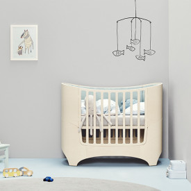 Classic Baby Cot 0-3 years - White Wash Nature Leander