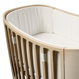 Bumper bed for baby bed - White White Leander