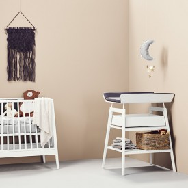 Linea Changing Table - White White Leander