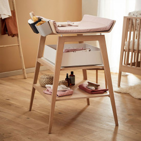 Linea Changing Table - Beech Nature Leander