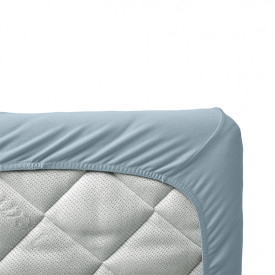 Set of 2 fitted sheets 70 x 140 - Dusty Blue Blue Leander