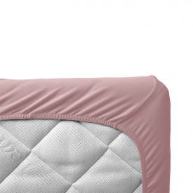 Set of 2 fitted sheets 60 x 120 - Dusty Rose Pink Leander