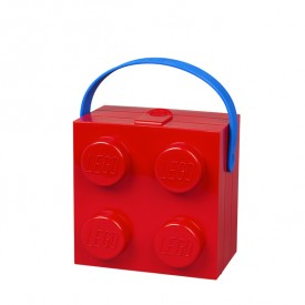 Lunch Box LEGO® Brick with Handle Red Lego
