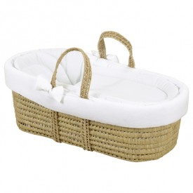 Moses Basket - With Dressings Nature Leipold