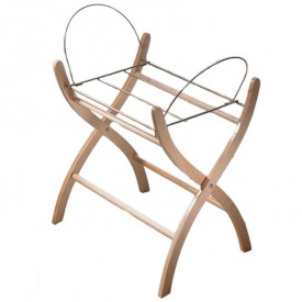 Wood Stand for Moses Basket - Natural Wood Nature Leipold