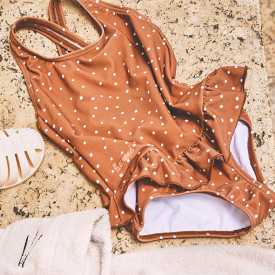 Amara Swimsuit - Confetti Terracotta Brown Liewood