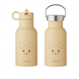 Water Bottle - Mouse Wheat Yellow Metal Liewood