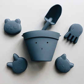 Silicone Beach Set Dante - Rabbit Blue Blue Liewood