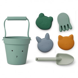 Silicone Beach Set Dante - Rabbit Peppermint Mix Green Liewood