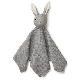 Milo Knit Cuddle Cloth - Rabbit Grey Grey Liewood