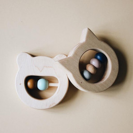 Wooden Teether - Bear Nature Liewood