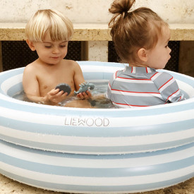 Leonore Pool - Stripes Blue/Creme Blue Liewood