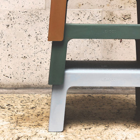 Step Stool - Grey  Grey Liewood
