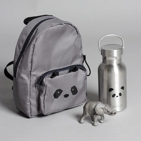 Mini Backpack - Panda Grey Grey Liewood
