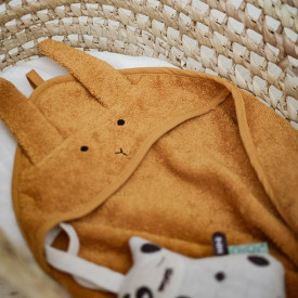 Baby Towel Hooded Rabbit - Mustard Yellow Liewood