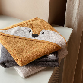 Baby Towel Hooded Fox - Mustard Yellow Liewood