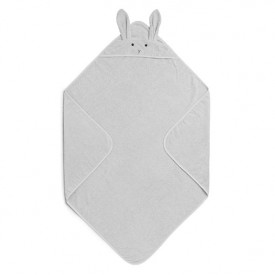 Kids Towel Hooded Rabbit - Grey Grey Liewood