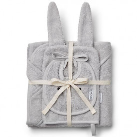 Baby Bath Set Rabbit - Grey Grey Liewood