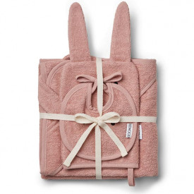 Baby Bath Set Rabbit - Rose Pink Liewood