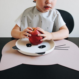 Silicone Placemat Cat - Rose Pink Liewood